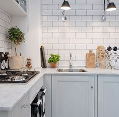 Lovely grey kitchen