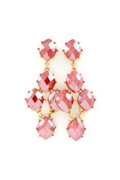 Dalia Chandelier Earrings in Soft Rose