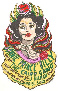 GigPosters.com - Bonnie Prince Billy - Cairo Gang - J. Tillman - Mariee Sioux
