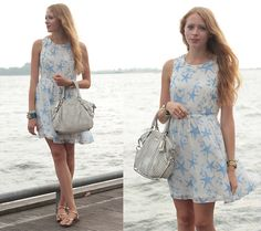 Forever 21 Starfish Dress, Coach Leather Satchel