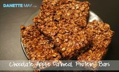 Chocolate Apple Protein Bars- perfect for snacks or breakfast on the go!