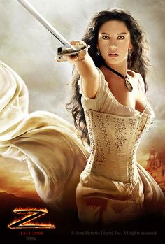 Catherine Zeta Jones in Zorro.  Most of her movies.  Gorgeous!