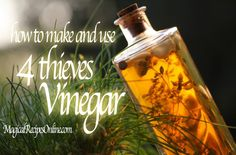 *Magical Recipes Online* Your free online Magazine on Witchcraft, Occultism & Ancient Recipes: Hoodoo Recipe: the Four Thieves Vinegar! How to ma...