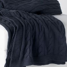 charcoal-gray-cable-knit-throws