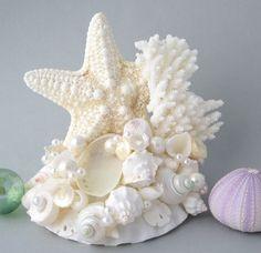 Beach Wedding Starfish Cake Topper  Wedding by beachgrasscottage, $75.00