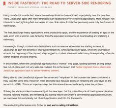 Ember.js - Inside FastBoot: The Road to Server-Side Rendering