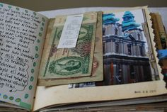 In case you are interested, here are a few pages from my Budapest Travel journal. As you can see, I used a journal my sister made as a sample in her Full Tilt Boogie class. Budapest Travel, Tall Tales, Journal Inspiration, Give It To Me, Travel Journals, Personalized Items, Travelling, Collage, Ideas