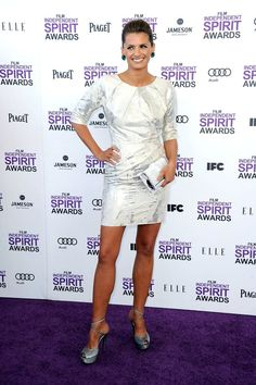 Stana Katic at the 2012 Film Independent Spirit Awards on February 25, 2012