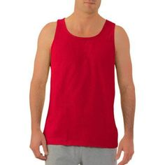 Fruit of the Loom Big Men's Jersey Tank Top, Size: 4XL, Red