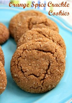 These orange spice crackle cookies are crispy on the outside and chewy in the middle. Classic molasses ginger crinkle cookies made lively with orange zest. Crackle Cookies, Spice Cookies, Yummy Cookies, Drop Cookies, Kiss Cookies, Cookie Desserts, Cookie Recipes, Dessert Recipes, Cooking Cookies