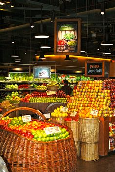 Supermarket, Miraflores, Lima, Peru look at all those beautiful vegetables....I visited Miraflores many years ago. It is very beautiful..
