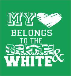 My Heart BelongsSchool Spirit Sport Shirt by WhitefishCreations, $15.00