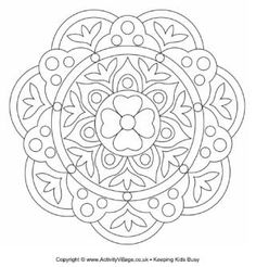 Rangoli Pattern Free To Print Colouring Pages