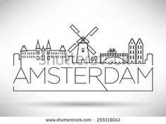 Stock Images similar to ID 195739328 - amsterdam city typography ...