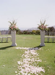 Photography: Michael + Anna Costa Photography - http://www.stylemepretty.com/portfolio/michael-anna-costa-photographers-Ltd   Read More on SMP: http://www.stylemepretty.com/california-weddings/2015/06/18/elegant-pink-filled-montecito-country-club-wedding/