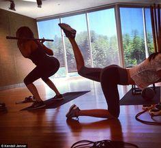 Kendall & Chloe Kardashian training buddies