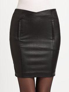 Athe Vanessa Bruno Leather Skirt
