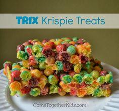 Trix Krispie Treats - fun and colorful alternative to regular Rice Krispie Treats