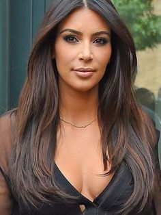 Kim Kardashian Middle Parting Long Straight Lace Front Human Hair Wigs 24 Inches Item # W24300 Original Price: $855.00 Latest Price: $248.39
