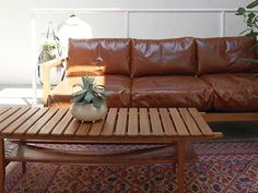 a.depeche Mnol 3seat sofa camel oil leather #interior #sofa #leather #oilleather #vintagestyle #wooden #livingroom #livingroomdecor #homeinspiration #homeideas