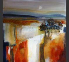 Anuk Naumann Abstract Landscape Painting, Landscape Art, Landscape Paintings, Abstract Art, Diy Wall Art, Diy Art, Art Techniques, Art Forms, Modern Art