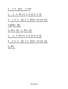 Flute Sheet Music: Heather Piano Songs For Beginners, Beginner Piano Music, Easy Piano Sheet Music, Viola Sheet Music, Music Sheets, Piano Sheet Music Letters, Clarinet Sheet Music, Piano Music Notes, Guitar Notes