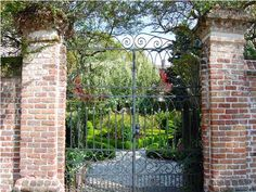 Garden Gates...just love this gate.  We're getting ready to make a nice entrance into our second drive that leads to the workshop.  It will be a brick archway with a nice gate.  Ramona