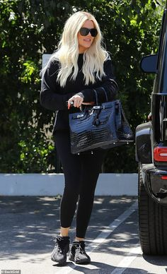 Spending large: The reality star accessorised her look with a large Hermès Birkin bag that. Source by Stacieannamarie Fashion outfits Black Birkin Bag, Most Expensive Handbags, Cowgirl Style Outfits, Kardashian Jenner, Kris Jenner, Hermes Birkin, Birkin Bags, Fashion Outfits, Fashion Trends