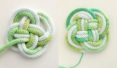 Knotted rope coaster instructions