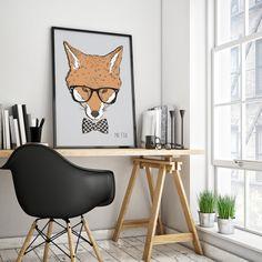 Este é Fox, Mr. Fox. E ele já está preparado para adentrar sua residência e protegê-la, digo, decorá-la!