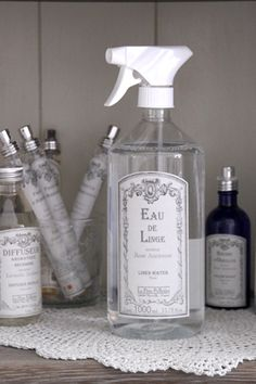 Linen water fragrance. I am sure I keep them in business.  P.  Who uses Linen Water in 2014?  ME !