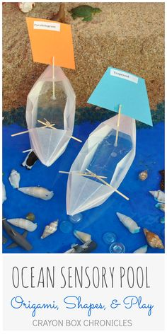 Ocean Sensory Pool and Origami Boats