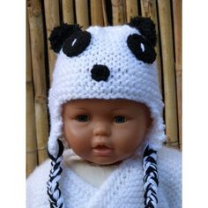 3796ffeee8a5 10 meilleures images du tableau Bonnet panda   Crochet hats ...