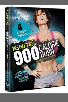 IGNITE by SPRI 900 Calorie Burn Celebrity trainer Ashley Borden Four workouts Upper-body, lower-body, core, or head-to-toe Do all four to maximize your 900 calorie burn Best Workout Dvds, Workout Videos, Exercise Videos, Excercise, Fitness Diet, Fitness Goals, Health Fitness, Fitness Motivation, 4 Minute Workout