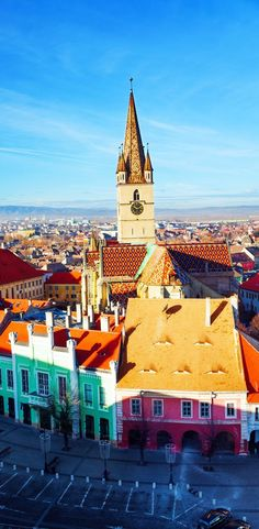 .Stair's Tower and Sibiu old town, Romania°°