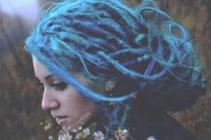 Blue dreadlocked
