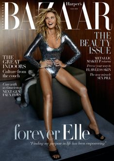 Elle Macpherson turns up the shine factor for Harper's Bazaar Australia's May 2020 cover. Captured by Darren McDonald, she glitters in a silver Gucci bodysuit… Elle Macpherson, Silver Bodysuit, Metallic Bodysuit, Harpers Bazaar, Naomi Smith, Mcdonald, Mode Editorials, Fashion Editorials, Australian Models