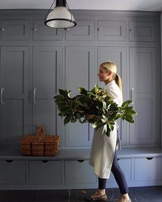 After the kids go to sleep, I have a date with Pinterest. I'm currently dying over these mudroom cabinets and incredible magnolia branches from @house214design. #SMmakelifebeautiful