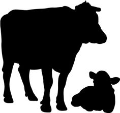 Cattle Herd Silhouette