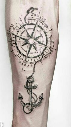 of Rosa dos Ventos tattoos Arrow Tattoos, Mom Tattoos, Forearm Tattoos, Arm Band Tattoo, Body Art Tattoos, Tattoos For Guys, Tattos, Compass Rose Tattoo, Compass Tattoo Design