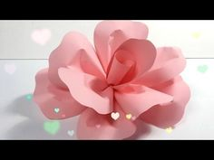 "DIY How to Make a Paper Flower Backdrop ""Rose"" / Como Hacer un Mural de Flores de Papel ""Rosa"" - YouTube"