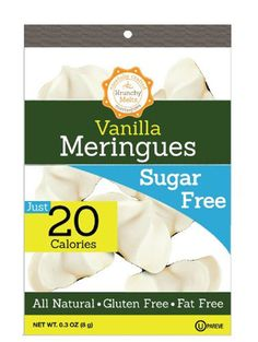 Krunchy Melts Meringues Sugar Free VanillaOther Ingredients: Isomalt, egg whites, natural flavors, vinegar, stevia. Contains: Eggs