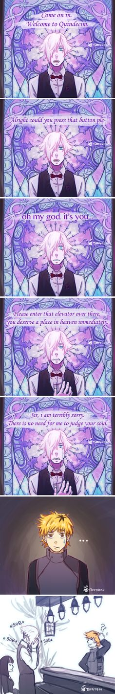 Death Parade and Tokyo Ghoul by TaffyDesu on DeviantArt - OH MY GOD, I FREAKED OUT WHEN I SAW THIS!!!!!