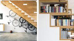 TENK NYTT: Det kan være et smart trekk å utnytte plassen under trappen til oppbevaring. Foto: Freshome
