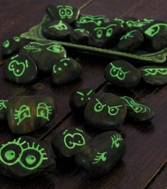 Glow in the Dark Rocks! This would be funny as hell to set outside for Marty when he comes home from work! lmao!