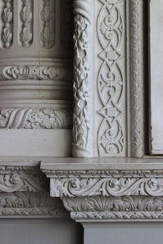 Window embrasure with carved moulding in the Saloon at Claydon House, c.1760 | Flickr – Compartilhamento de fotos!