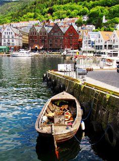 Bergen harbor . Norway