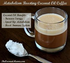 Use Coconut Oil - Metabolism Boosting Coconut Oil Coffee - 9 Reasons to Use Coconut Oil Daily Coconut Oil Will Set You Free — and Improve Your Health!Coconut Oil Fuels Your Metabolism! Coconut Oil Coffee Benefits, Coconut Oil Uses, Coconut Oil In Coffee, Coconut Oil Recipes Food, Café Bulletproof, Smoothies, Coffee Creamer, Coffee Coffee, Starbucks Coffee