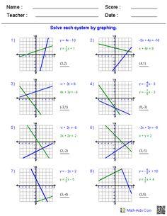Algebra 1 Worksheets   Dynamically Created Algebra 1 Worksheets