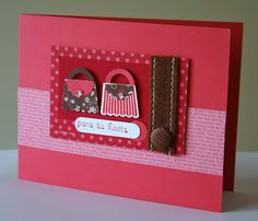 Designed by maryross: Tarjeta para Lucero con MOJO320, femenine birthday card or party invitation, create a cupcake stamp set and build a cupcake from stampin up, purse punch art complete instructions